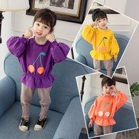 Meninas primavera e outono terno 2019 novo camisola infantil feminino bebê gás estranho mola de duas peças e outono 951 v2