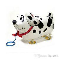Yürüyüş Pet Köpek Folyo Balonlar Hayvan Baskı Balon Parti Dekorasyon Çocuk Oyuncakları Toptan Hjia924