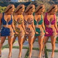 Летние женские леопарда для леопарда напечатанные купальники сексуальные женские женские орехи без рукавов