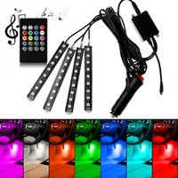 Car LED Light RGB Interior Auto Lights Music Sync Rhythm Sound Active Function and Wireless Remote Control