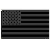 3x5ft preto bandeira americana poliéster sem trimestre será dado EUA EUA Proteção histórica Bandeira bandeira bandeira de dupla face fwb9930