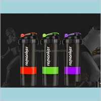 Water Bottles Drinkware Kitchen, Dining & Bar Home Garden Remanker Protein Shaker Blender Mixer Cup Sports Fitness Gym Training 3 Laye