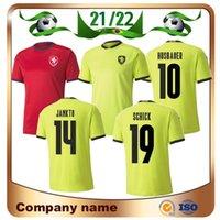2021 كأس أوروبا جمهورية التشيك لكرة القدم جيرسي 21/22 # 10 Husbauer # 14 Jankto # 15 Soucek # 21 Skoda Shirt فريق كرة القدم