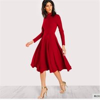 Casual Dresses Red Long Sleeve Party Bodycon Woman Dress 2021 Yellow Autumn Vintage Winter A-line For Women Vestidos Bing