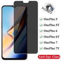 Privacy Screen Protectors For OnePlus 1+ 5 6 7 One Plus Anti Spy Glare Peeping Tempered Glass For One Plus 1+ 5T 6T 7T Film