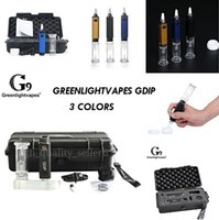 G9 Greenlightvapes Gdip Dabber KITS Portable Mini Dab Rig 1000mAh ENail Collector Straw with Glass Bubbler Water Pipe WATERGLASS 2021