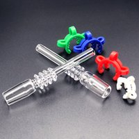 DHL Bong Quartz Tip Fit Nectar Collector 10mm 14mm 18mm Joint Smoking Accessories With Keck Clips for Pipe Glass Water Bongs Dab Oil Rigs