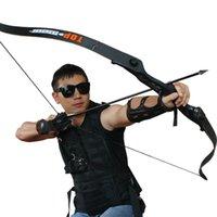 56 inç 30-50lbs Okçuluk Olimpik Yay Metal Yükseltici Avcılık Çekim Yay Siyah Eğitim Takedown Avcılık Yay ve Ok