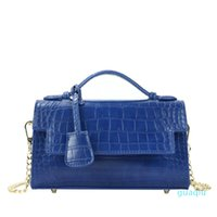 Evening Bags Monogrammed Letters Crocodile Pattern PU Leather Handbag Crossbody CHAIN PURSE Design Women Shoulder Fashion Python Bag