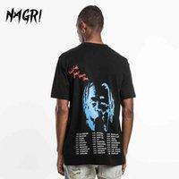 Nagri Hip Hop Casual Men t Shirt Travis Scott Astroworld Fashion Letter Print You Were Here Harajuku T-shirts Tee Tops