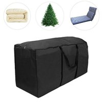 Storage Bags Garden Cushion Bag 210D Oxford Fabric Waterproof Pouch Anti-UV Protective Cover For Outdoor Furniture