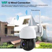WIFI IP Camera Outdoor Security PTZ 4X Zoom Infrared Night Hemisphere CCTV Two Way Audio Cameras