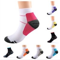 Mens womens socks Breathable Compression Ankle Anti-Fatigue Plantar Heel Pain Short Running sports Sock For Men Women Accessories summer fashion