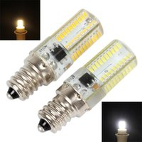 Ampoules E12 DIMMABLABLE 80 LED 3014 SMD Light Silicone Crystal Ampoule Lampe 110V / 220V 360 Plage d'angle de faisceau