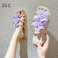 Hausschuhe Weibliche Sommer Studenten Mädchen 2021 Koreanische Version von Online Celebrity Ins Outdoor Mode Frauen Blume Sandalen Schuhe