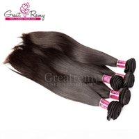 """4шт много смешанной длины 100% перуанских необработанных человеческих волос наращивание волос 8 """"-30"""" Перуанская волна тела Волны волосы ткать натуральный цвет Большой"""
