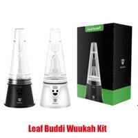 Original Leaf Buddi Wuukah Kit Dab Rig Wax Concentrate Vaporizer Temperature Control 3200mAh Battery Box Mod Device Vape Enail with LED Authentic