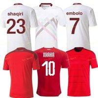 2021 스위스 플레이어 버전 축구 유니폼 20 21 Shaqiri Seferovic Inler Embolo 홈 멀리 팬들이 팬들이 축구 셔츠
