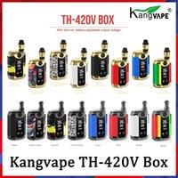 100% Authentic Kangvape TH420 V Box Kit 800mAh 20W Temperatura di wattaggio regolabile VAPE MOD TH-420V con cartuccia di bobina in ceramica da 0,5 ml