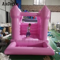 pink Kids ballpit small inflatable bounce house baby jumping bouncy castle toddler jumper bouncer with ball pit