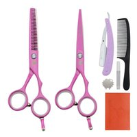 "Hair Scissors Univinlions 5.5"" Professional Hairdressing Kit Barber Accessories Razor Comb Cutting Thinning Tools"
