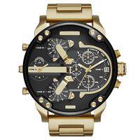 2021 Sports militaire DZ7333 Mens montres 50mm Big Cadran Golden Inox Mode Montre De Mode Hommes Luxury Braceur de luxe Reloj de Lujo Orolo