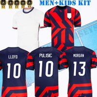 S-3XL 2021 2022 Donne Casa Away US Soccer Jerseys Dempsey Pulisic Rapinoe Morgan 21 22 Camicia da calcio Uniform Men + Bambini