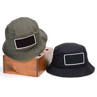 D101 여름 접이식 면화 어부의 모자 태양 보호 모자 야외 여행 스포츠 분지 모자 녹색 검은 색 2 색