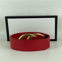 Cinto de desenhista masculino preto vermelho de alta qualidade moda senhoras 7.0cm grande ouro pérola fivela cintos + caixa original