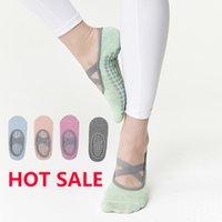 Sports Socks for Fitness Gym Women High Quality Pilates Socks Anti-Slip Breathable Backless Yoga Socks Ankle Ladies Ballet Dance