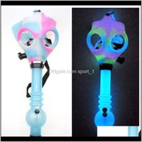 Pipes Accessories Household Sundries Home Garden Gas Bong Both Glow In The Dark Water Shisha Acrylic Smoking Pipe Sille Mask Hookah To