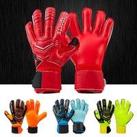 Новый дизайн Professional Футбол Воротар Главы Латексные Защиты Палец Дети Взрослые Футбольные Вратаря Gloves001