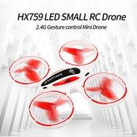 مصغرة rc بدون طيار 4ch quadcopter مقطوعة الرأس مفتاح واحد عودة 360 درجة فليب الصمام ضوء هليكوبتر السيارات تحوم اللعب لصبي