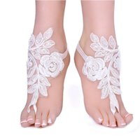 Fashion Summer Ankle Bracelet Lace Pearl Flower Anklet Baref...