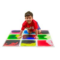 Art3D Liquid Fusion Aktivität Spielzentren für Kinder, Kleinkind, Teenager, 12x12 Zoll Packung 9 Fliesen
