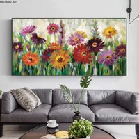 Flower Painting Canvas Art Wall Art Pictures For Living Room Colorful Posters And Prints Modern Home Decor Landscape Cuadros