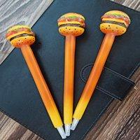 Creative 12 Pack Belle dessin animé ball-point stylo hamburger résine sculpture personnalisé fournitures de bureau artisanat cadeau, cadeau