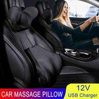 Massage au cou Coussin Lumbar Auto Siège Sécurité Relax Relax Tête Support Tête de voiture électrique Coussin arrière