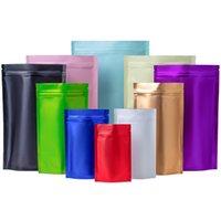 Красочный zip замок пакета сумки рождественские подарочные упаковки алюминиевая фольга mylar слезы outch матовая подставка