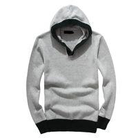 S909 New Autumn Winter Casual Mens Designer Sweater Brand Men's Knitwear Logo Embroidery Zipper Sweater Warm High Quality Hoodie Sweater