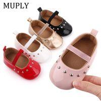 First Walkers Baby Shoes Nacido Infantil Girl Walker PU Sofe Sole Princess Toddler Cuna Bebes Mocasines