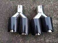 2 قطع سيارة ألياف الكربون العادم أنابيب نهاية التوأم ل bmw 92mm المخرج m الأداء نصائح مزدوجة