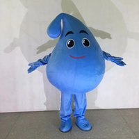 Performance Raindrop Water Drop Mascot Costume Halloween Christmas Fancy Party Cartoon Character Outfit Suit Adult Women Men Dress Club Carnival Unisex Adults