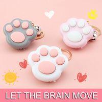 Kawaii Fidget Brinquedos Mini Cat Paw Game Keychain LED Jogos de Memória Eletrônica para Crianças Adultos Simples Dimple Jugluetes Mochi # 11
