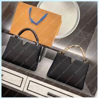2021 Женская сумочка дизайнерские сумки на плечо капуцин BB Luxurys дизайнеры черные сумки Crossbody кошелек муфты женские рюкзаки B2107222L B210722L