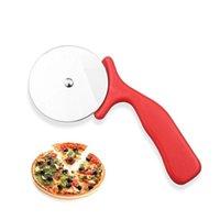 1pc Pizza Red Pizza Taglierina in acciaio inox Strumenti per torta Pizza Ruote Forbici Ideale per Pizza Pies Waffles Pasta Biscotti
