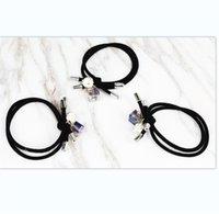 Dupla linha anel de cabelo bloco mulheres strass cristal borracha corda bola redonda esfera preto elástico faixa acessórios de cabelo 0 45ll l2