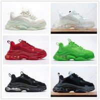 2021 Newest Crystal Bottom Balencaiga Casual Shoes 17W triple s Women Mens Platform Trainers Sneaker Designer Flat Sneakers Size 36-45 Vintage