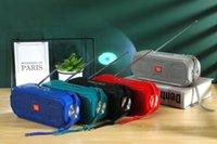 Novo TG280 Bluetooth Sem Fio Subwoofers Portáteis Loudspeaker Ao Ar Livre Handsfree Perfil Perfil Estéreo Baixo 1200mAh Support Bateria TF Cartão USB Linha AUX