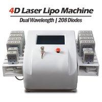 2021 Diodos Profissionais Laser Body Slimming Machine 208 Diodos Importados do Japão Mitsubishi 12 Lipolaser Pads 135MW-350MW Energia ajustável 2 anos de garantia